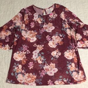 Juniors Floral Top